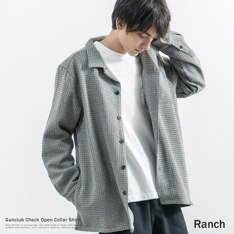【送料無料】【Ranch/ランチ】ガンクラブオープンカラーシャツ◆9181