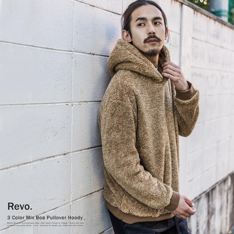 【Revo./レヴォ】ミックスボアプルオーバーパーカー◆9189