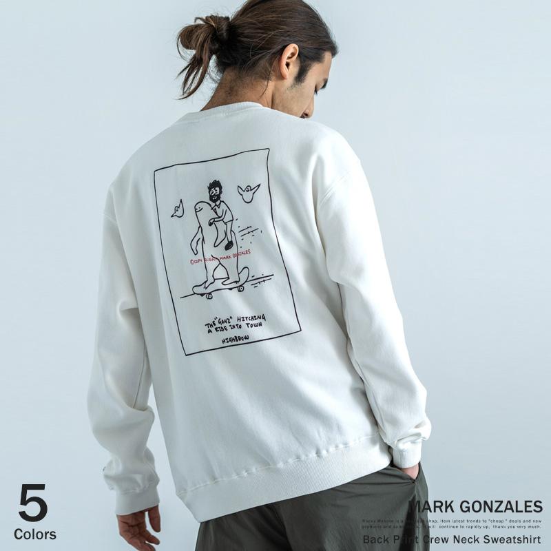 【MARK GONZALES/マークゴンザレス】プリントクルーネックトレーナー◆9296