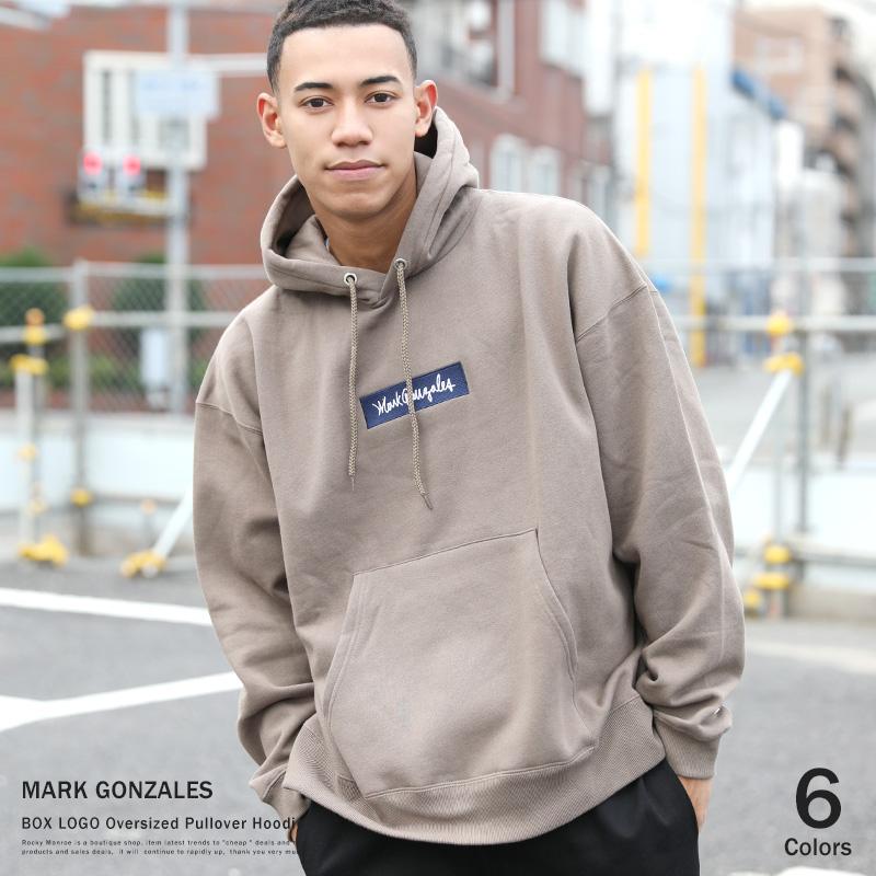 【送料無料】【MARK GONZALES/マークゴンザレス】 BOX LOGO BIG フードパーカー◆9330