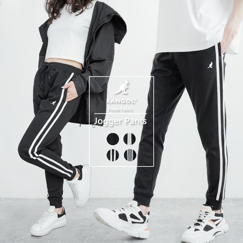 KANGOL×Rocky Monroe別注 サイドライン・2ラインポンチジョガーパンツ◆9363