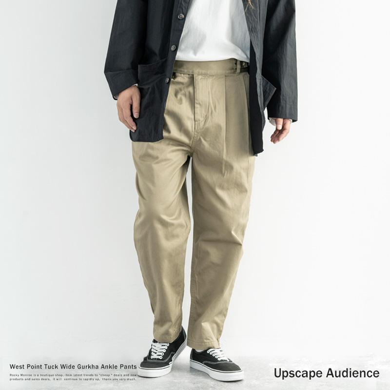 【送料無料】【Upscape Audience/アップスケープオーディエンス】日本製/国産30/20ウエポンタックワイドグルカアンクルパンツ◆9440