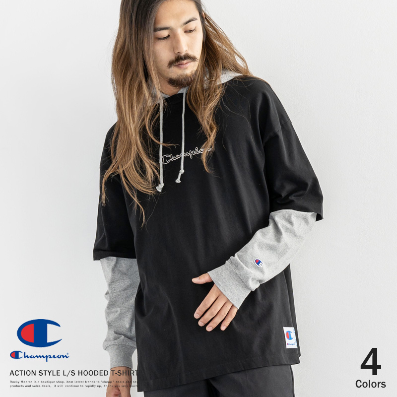 【Champion/チャンピオン】ACTION STYLE L/S HOODED T-SHIRT◆9622
