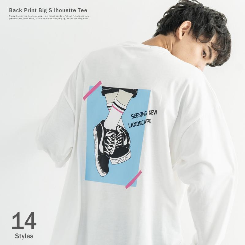 イラストBIG L/S Tシャツ◆9666