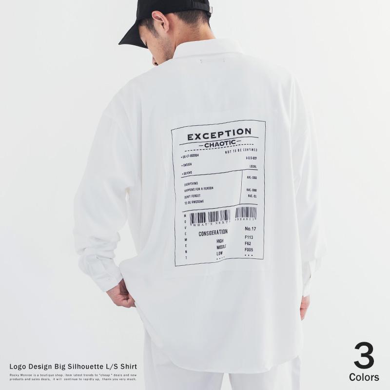 ロゴ貼付BIGシャツ◆9670