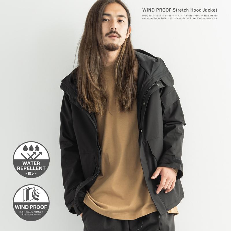 【送料無料】防風撥水ストレッチエコワックス型ジャケット◆9678