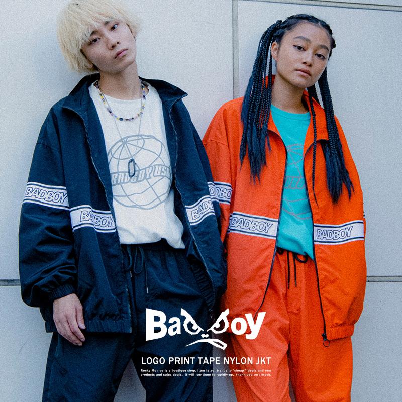 【送料無料】【BAD BOY/バッドボーイ】ロゴTAPEナイロンジャケット◆9851