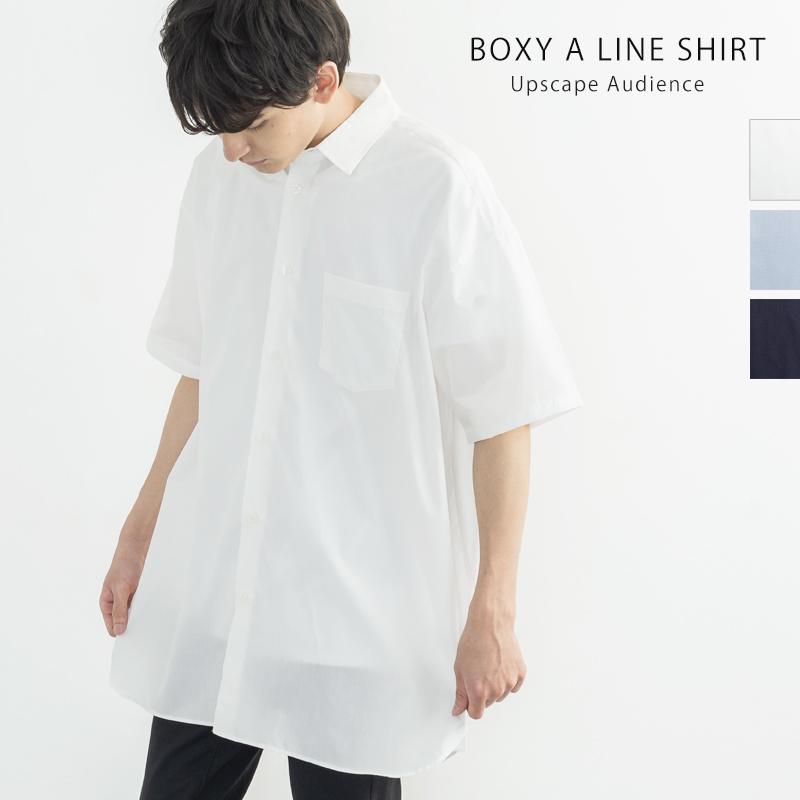 【Upscape Audience/アップスケープオーディエンス】日本製/国産 ブロードレギュラーカラーボクシーAラインSSシャツ◆9982