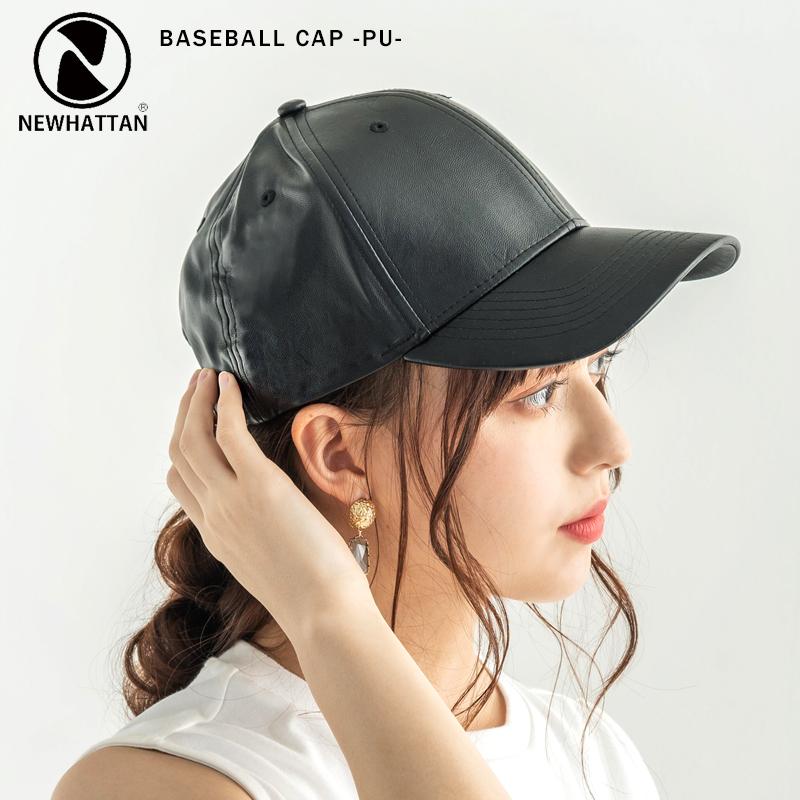 【NEWHATTAN/ニューハッタン】 Baseball Cap -PU-◆9993