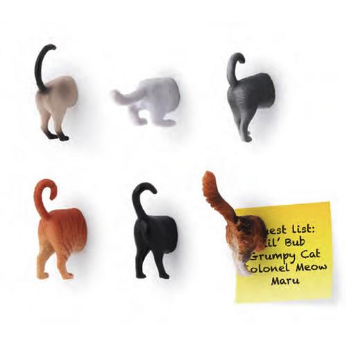 ネコのおしりマグネットセット。