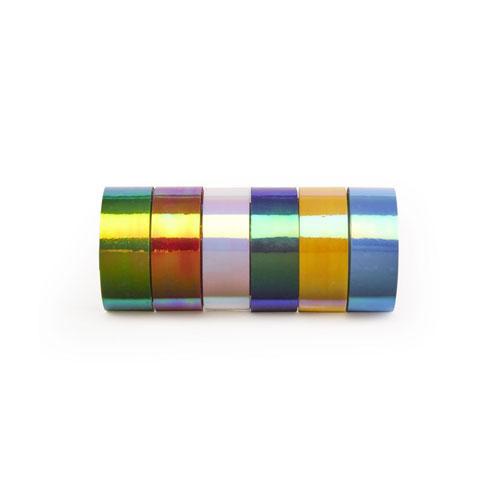 ギフトラッピングや工作にも最適なカラーテープセット。
