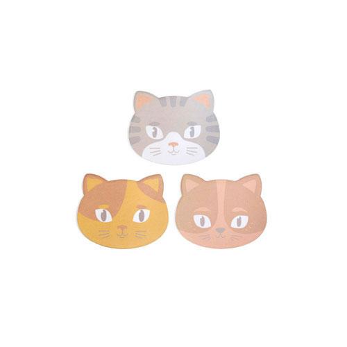 可愛い猫のメモパッド。1パッド100枚。
