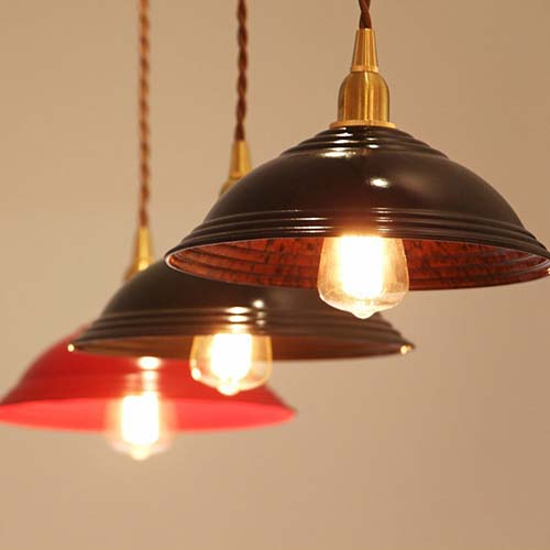 ベークライト製ランプシェード。