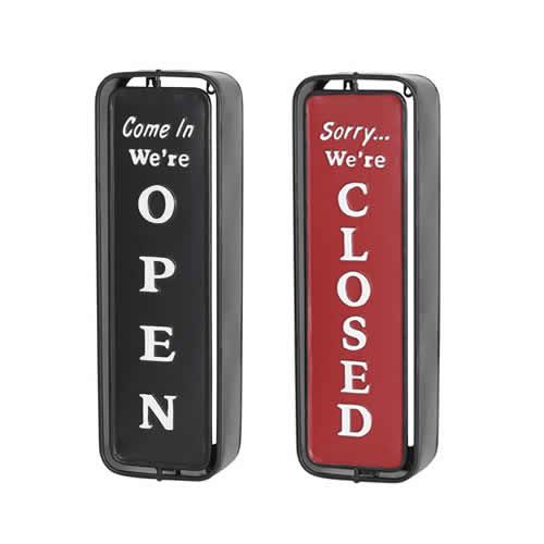 看板部分を回転させることで、OPEN、CLOSEが切り替わります。