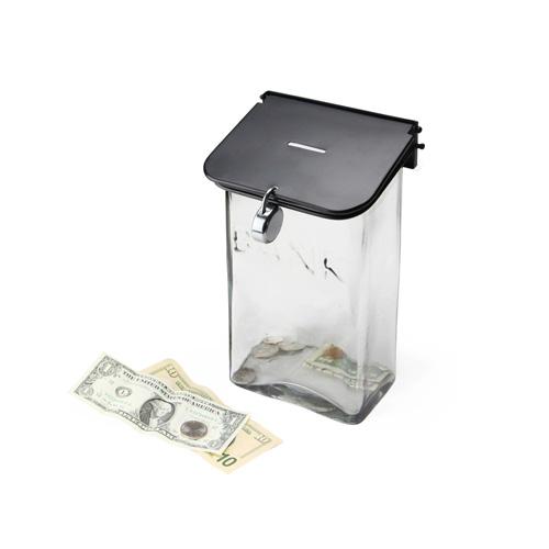 30's〜40'sにアメリカで使用されていたガラス製郵便受けを貯金箱にしました。