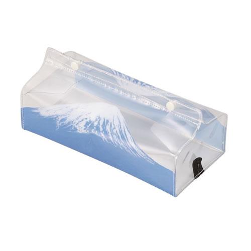 PVCで作られたティッシュケース。