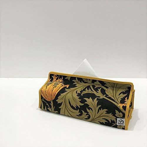 ウィリアムモリスのテキスタイルを使用したティッシュケースボックス。
