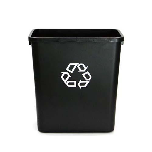デスクサイドに使い勝手のいいシンプルなリサイクルコンテナ。