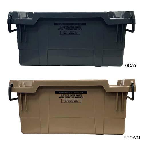 工業部品の大量輸送などに使用されているスタッキング式のコンテナボックスです。