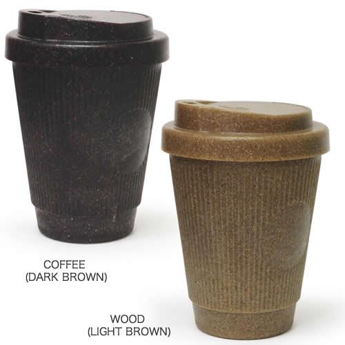 コーヒーの抽出かすを使って作られた全く新しい素材のコーヒーカップ。