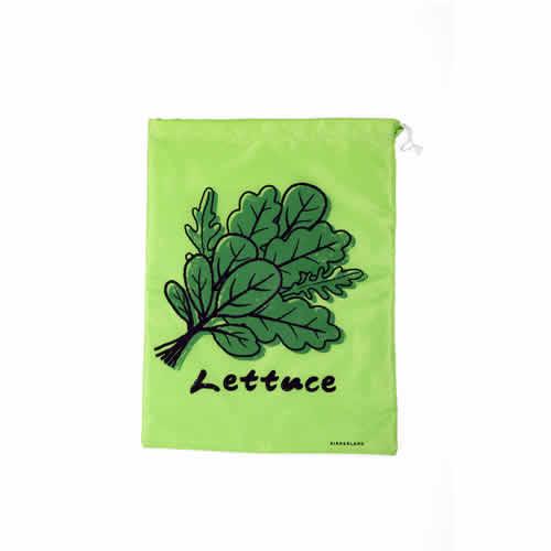 レタス等の葉野菜を新鮮に保つことが出来る保存バッグ。