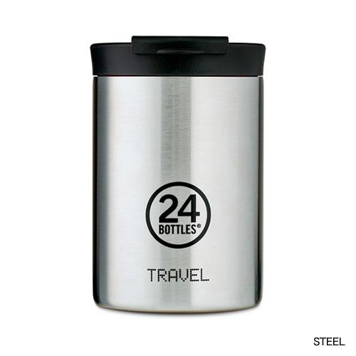 タンブラータイプの保温保冷ボトル。