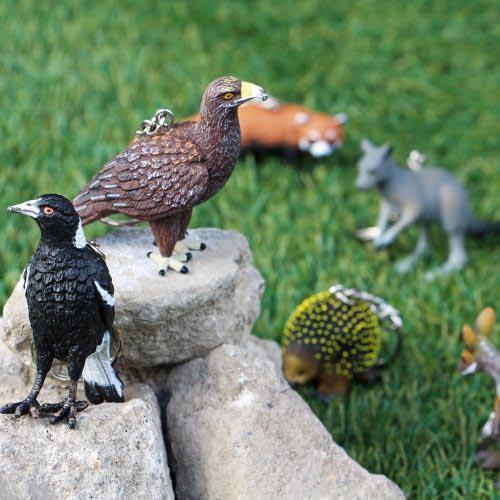 絶滅危惧種や固有種などを中心とした動物キーリング。