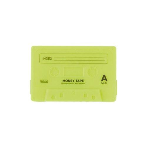 クレジットカード、請求書、コインを安全に保管できるシリコン素材のテープ型ケース。