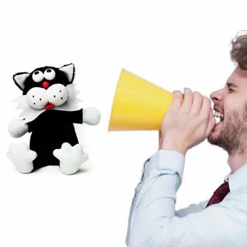 しゃべった言葉をおもしろおかしいトーンに変換してすぐにまねしてしゃべります。