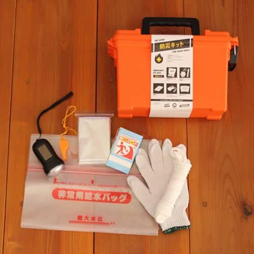 MOLDING AMMO TOOL BOX に防災アイテムをセットした実用性ツールアイテム。
