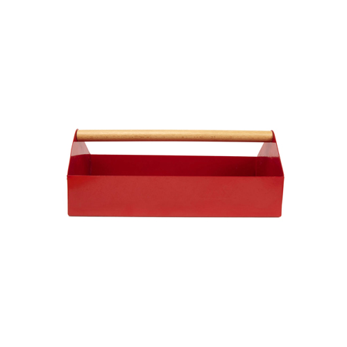 レトロなデザインのツールボックス。