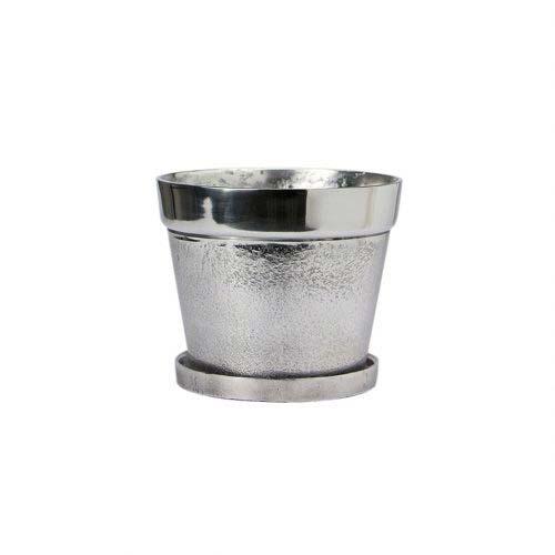 アルミ素材のプランター&ソーサーセット。