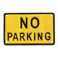駐車禁止を示すプレート。