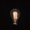 フィラメントが様々なかたちをした電球。