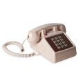モーテルにありそうなクラシカルなデザインの電話機、