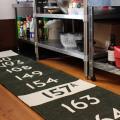 イギリスのバスフロントサインを使用したキッチンマット