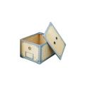 ナチュラルな木のボディに、インダストリアル感漂うスチールのフレームを合わせた収納ボックス