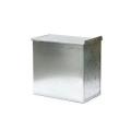 ガルバナイズド加工(亜鉛メッキ)素材を用いた収納ボックス。