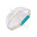 ドーム型となり面積が広い天蓋の傘。