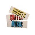 コーヒー・ドーナツ・ミュージックの3Pセット。