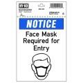 マスク着用喚起コンパクトプレート。