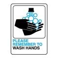 手洗い喚起ステッカーサインプレート。