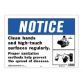 手洗い、定期的な清掃喚起プラスチックサインプレート。