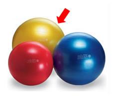 ギムニクプラスボール (75cm・黄)