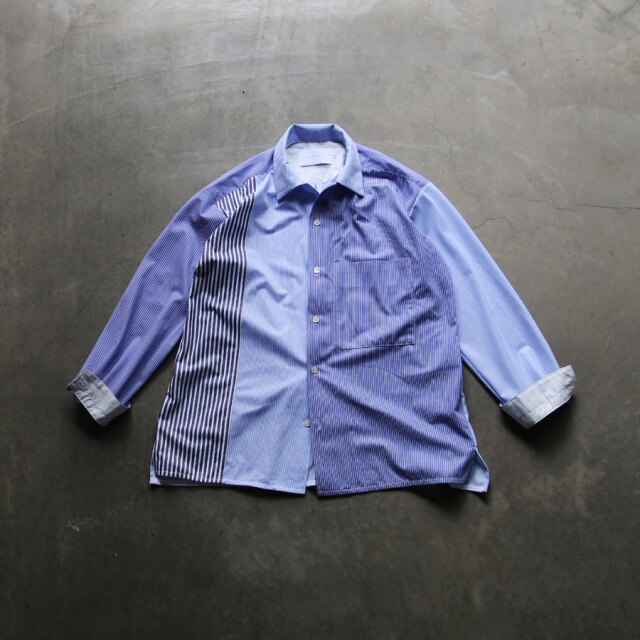 curly,curly cs,カーリー,CLOUDY L/S SHIRTS Panel Stripe