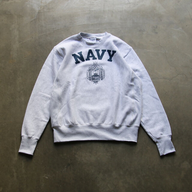 dead stock,CHAMPION,REVERSE WEAVE,USNA OFFICIAL PRINT,CREW NECK SWAET