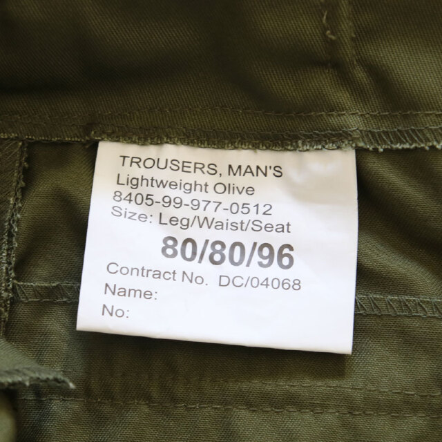 DEAD STOCK MILITARY,BRITISH ARMY LIGHT WEIGHT BAKER PANTS ,イギリス軍
