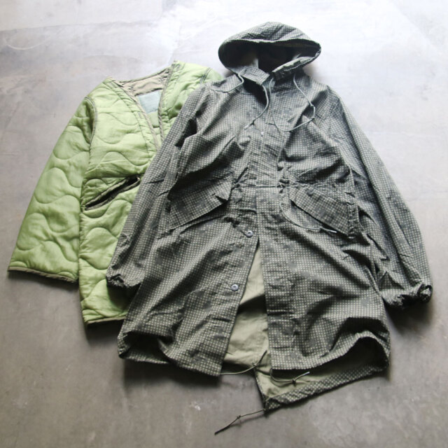 DEAD STOCK MILITARY,us army night desert camo parka with liner