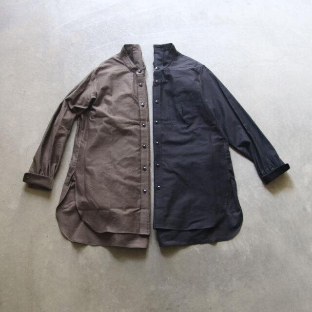 klasica,クラシカ,sh-038,シャツ,バンドカラーシャツ,ロングシャツ