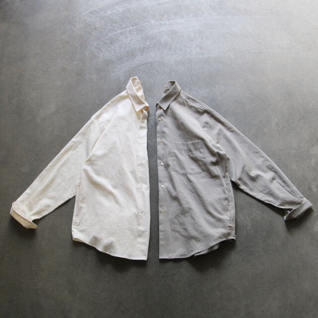 LAMOND,LA MOND,ラモンド,supima cotton bold shirt jacket